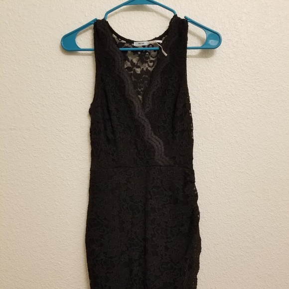 Small black lace dress